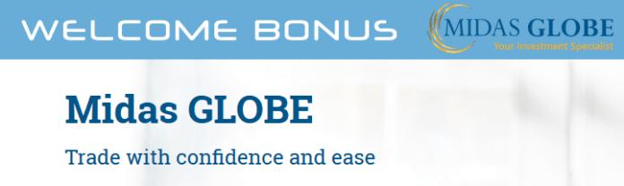 MidasGlobe Welcome Deposit Bonus