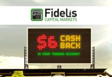 Fidelis Capital Markets rebate cash back