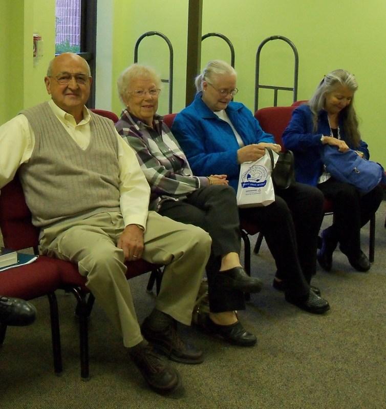 More volunteers: Vern (HBH Minister), his wife, Linda, Merrylin (HBH Minister), and Claudine (HBH Minister)