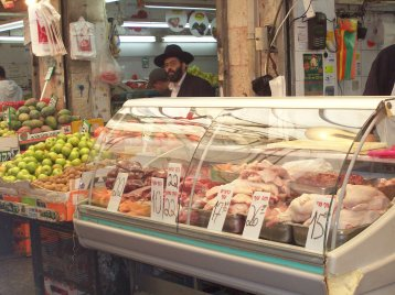 Open market - meat counter