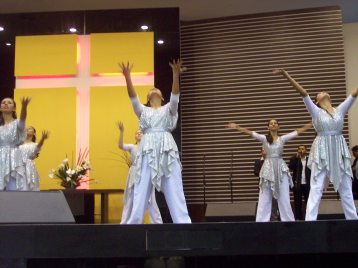 Dance team at large church