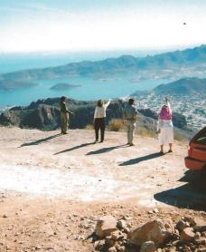 Praying over Guaymas from mountain top