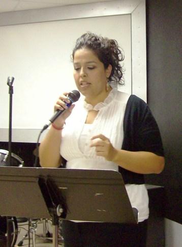 Valerie practicing her singing before seminar in Lubbock, TX