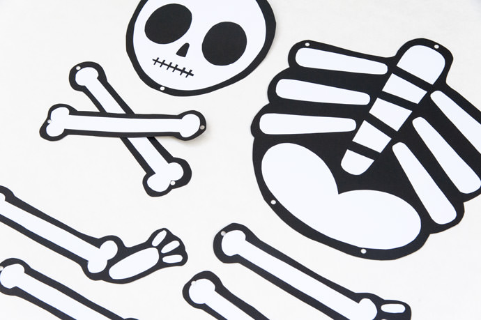 Not So Scary Printable Skeleton — All for the Boys