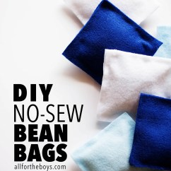 No Sew Bean Bag Chair High Chairs For Kitchen Island Diy Bags  All The Boys