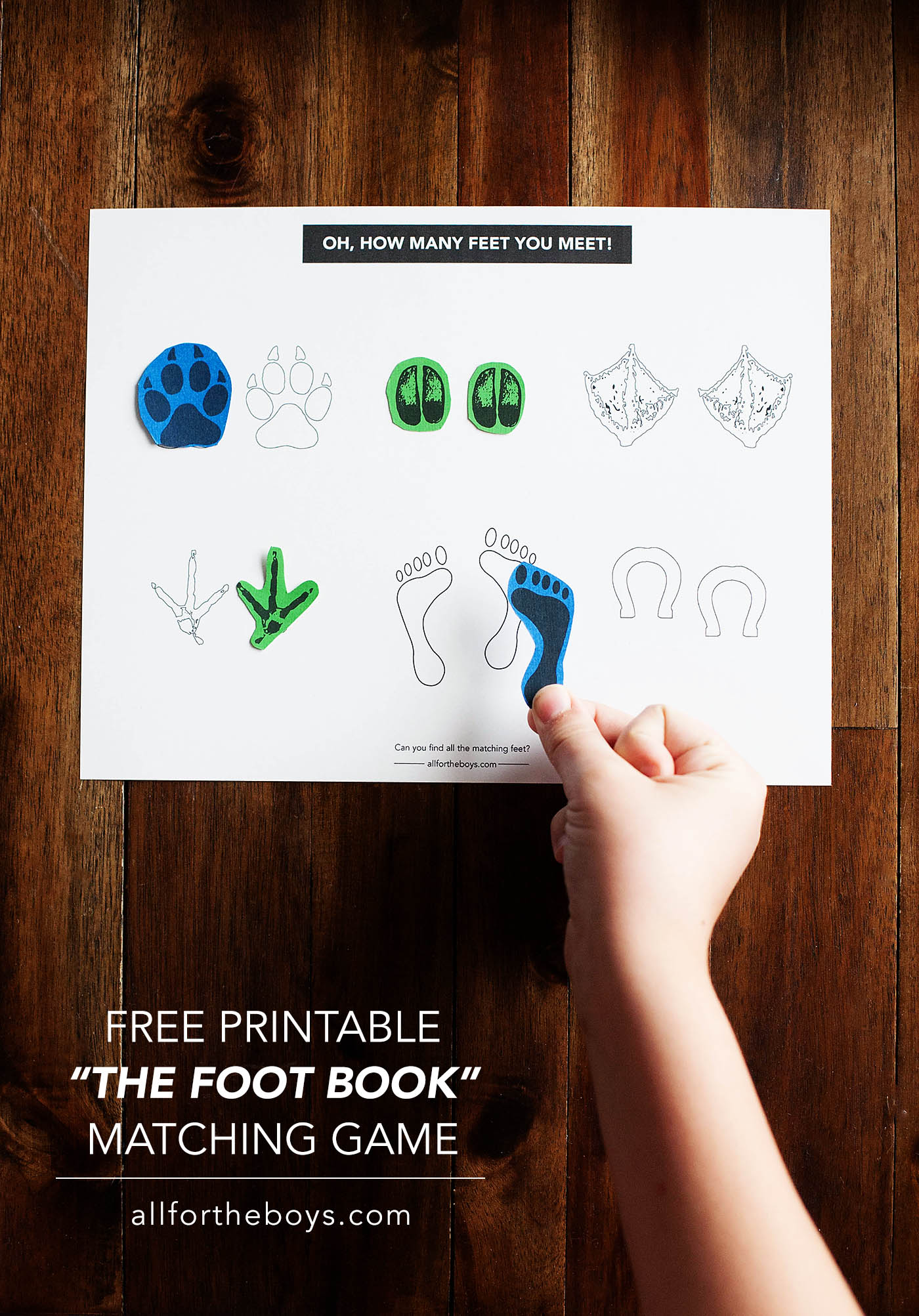 Dr Seuss The Foot Book Printable Game
