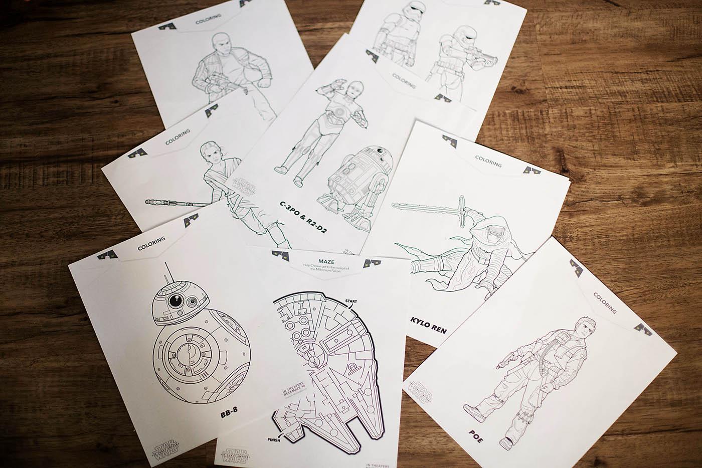 Star Wars The Force Awakens Fun Family Printables