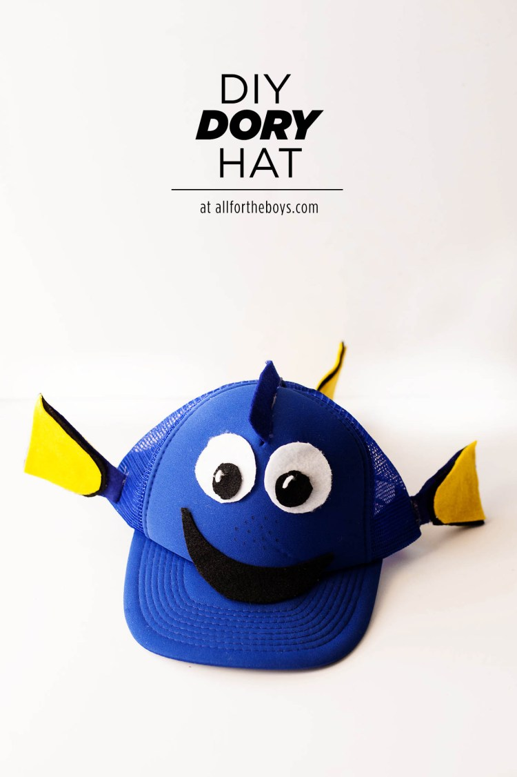 crafts for kids with paper, easy DIY craft ideas for kids, easy paper crafts for kids, DIY craft ideas easy DIY craft ideas for kids DIY Finding Dory hat perfect for an easy costume, trip to Disneyland or Walt Disney World, for cosplay or just because you love Dory!