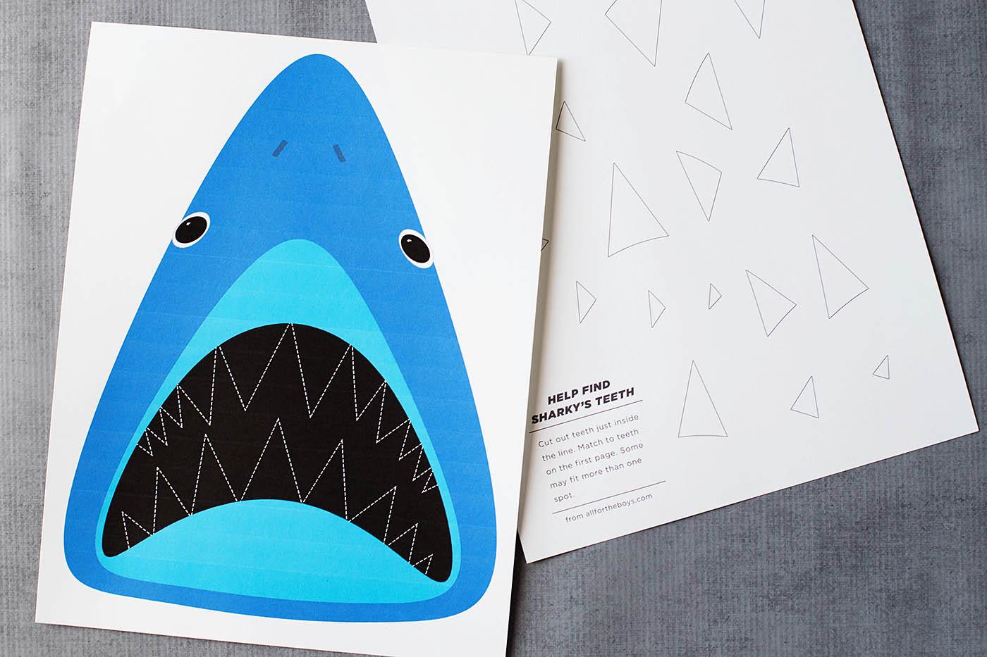 Find Sharky S Teeth Printable Shark Game
