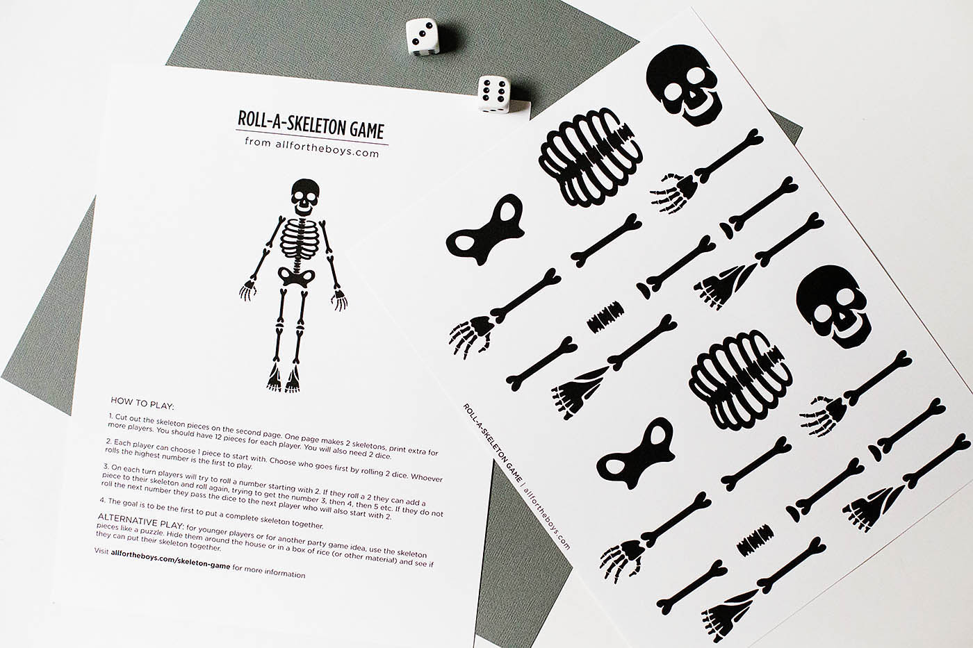 Free Printable Skeleton Game