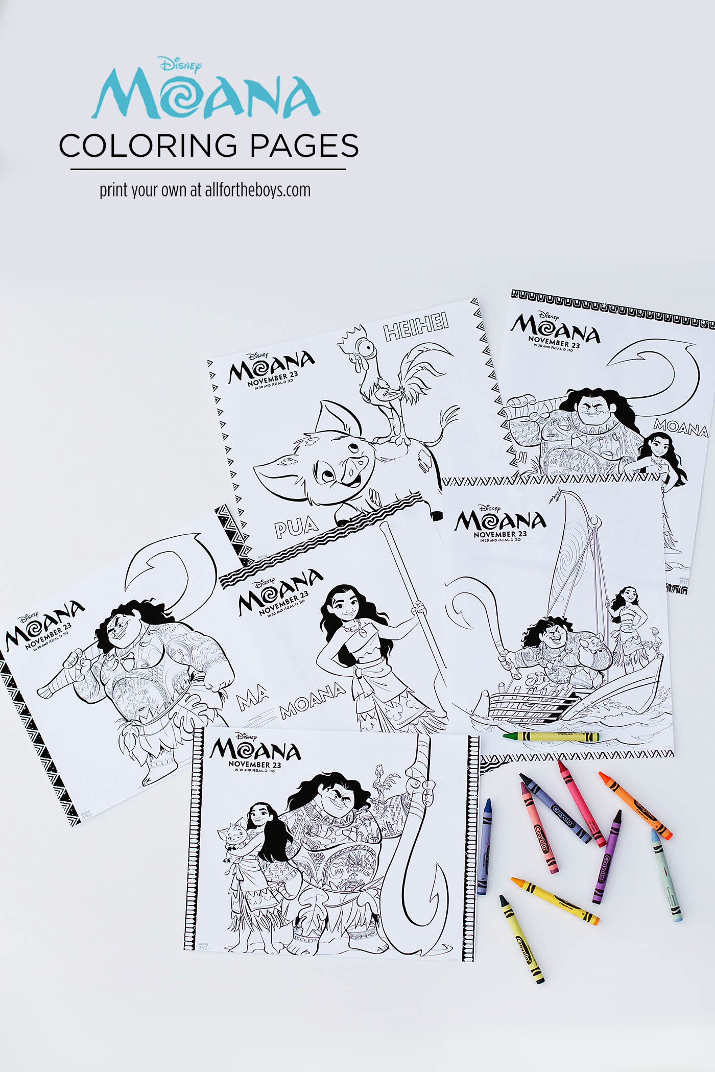 Moana Printable Coloring Pages Maze Bookmarks Amp Matching Game