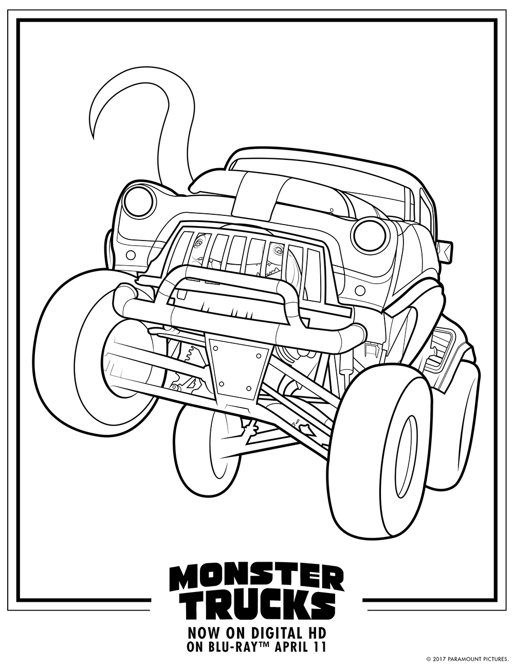 Monster Trucks Printable Coloring Pages — All for the Boys