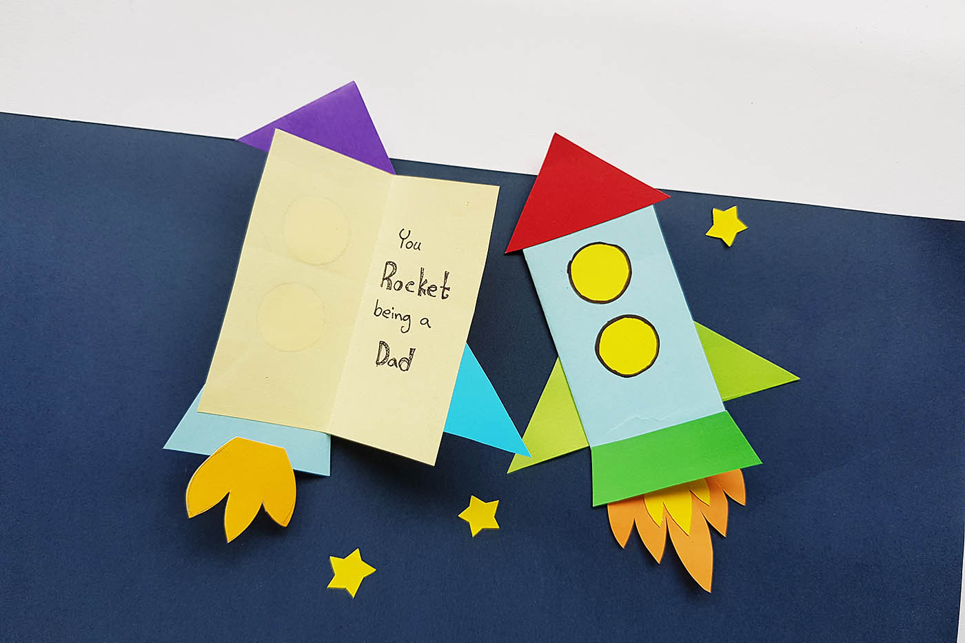 Diy Punny Rocket Father S Day Card