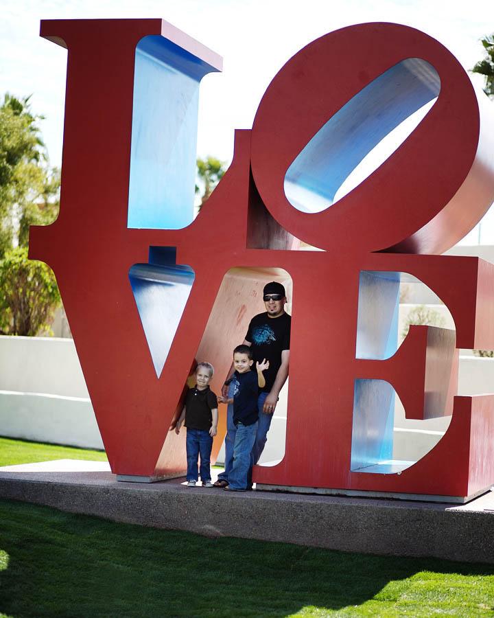 LOVE statue in Old Town Scottsdale, Arizona