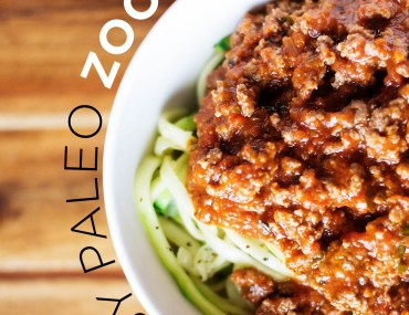 Easy paleo zoodles