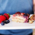 Gluten free (and diary free) berry french toast casserole