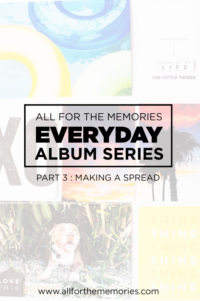 Everyday Album Series (a Project Life album) from All for the Memories. Walking through a Project Life spread from start to finish. This is part 3 - putting together a Project Life spread