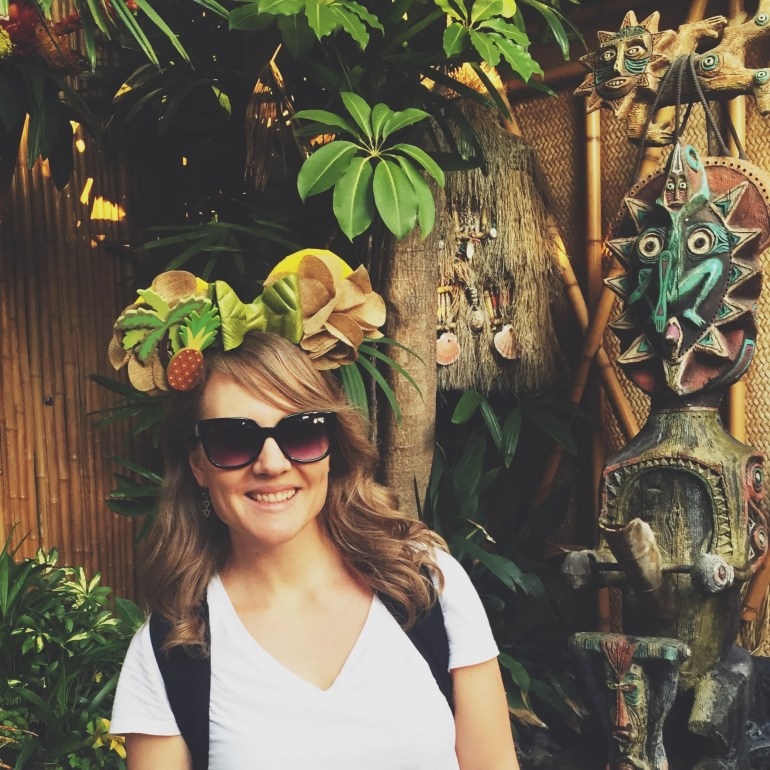 DIY Adventureland Minnie ears - such a fun way to show your Dole Whip side at Disneyland or Walt Disney World.