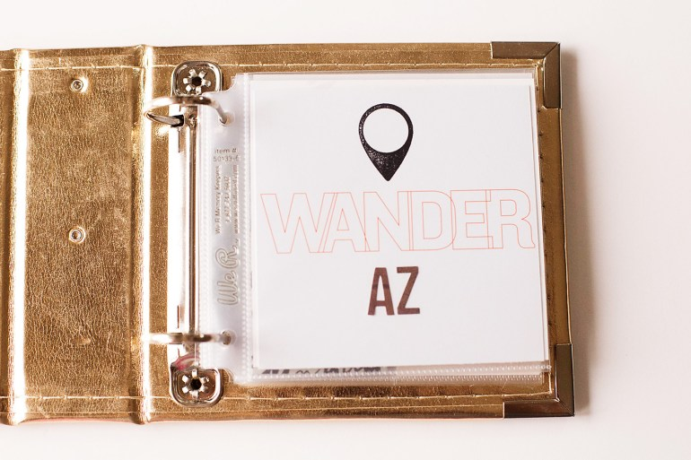 AZ Mini Album by Allison Waken