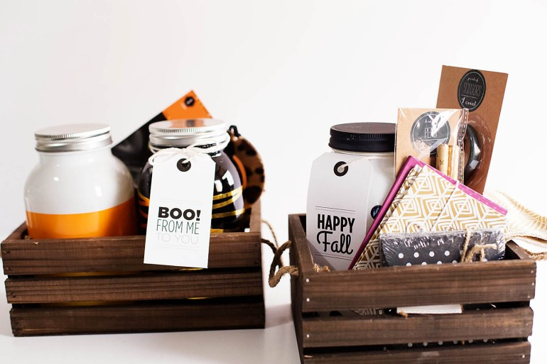 "Fall or Halloween printable tags for a fun ""just because"" gift basket or to Boo your neighbors!"