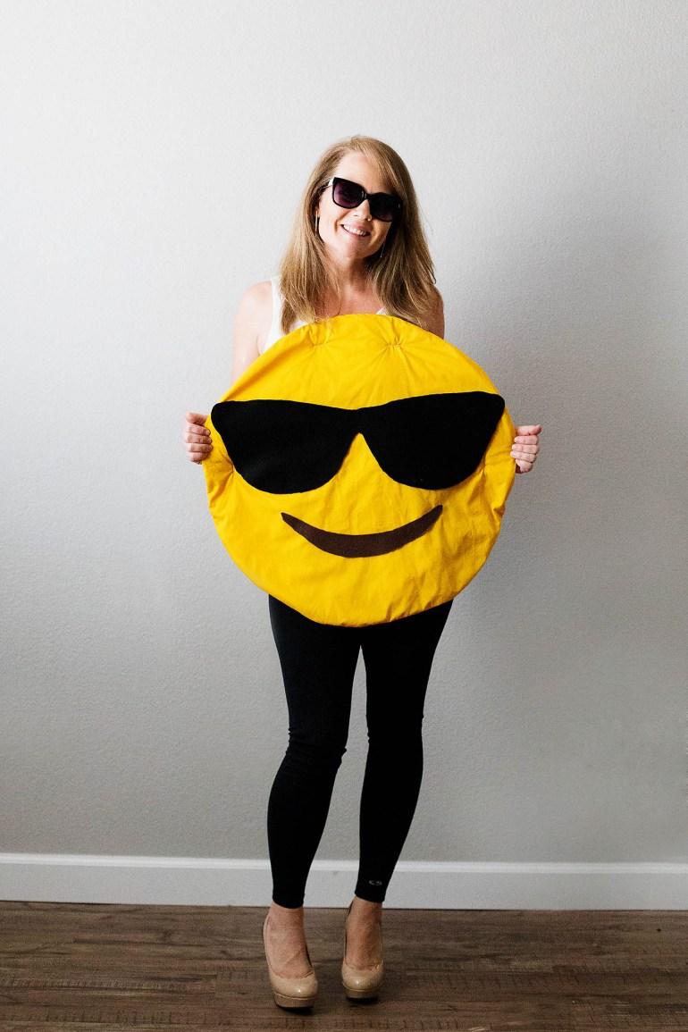 DIY emoji costume from Savers at allforthememories.com