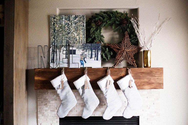 Christmas mantle 2015 from All for the Memories