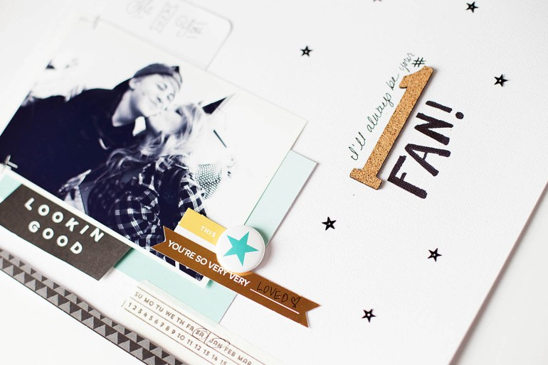 Simple scrapbook page with  video