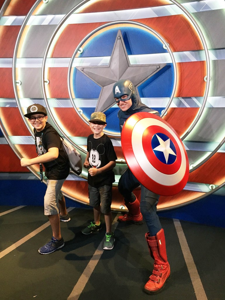 Captain America now at California Adventure