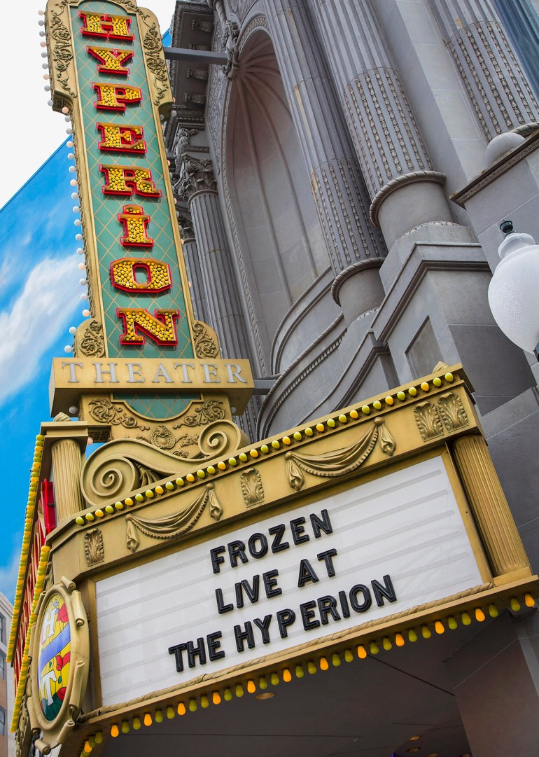 "'FROZEN – LIVE AT THE HYPERION' (March 4, 2016) – ""Frozen – Live at the Hyperion,"" a new musical based on the Walt Disney Animation Studios film ""Frozen,"" will open at the Hyperion Theater at Disney California Adventure Park on May 27, 2016. The new musical at the Disneyland Resort will immerse audiences in the emotional journey of Anna and Elsa in an entertaining musical adaptation that includes elaborate costumes and sets, special effects, new technologies, show-stopping production numbers and unique theatrical surprises. (Paul Hiffmeyer/Disneyland Resort)"
