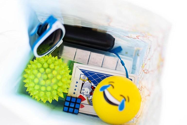 DIY road trip bag for teens - fun items and a few essentials for a road trip