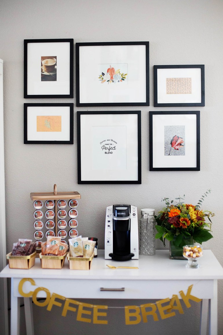 Printable Coffee Sign - All for the Memories