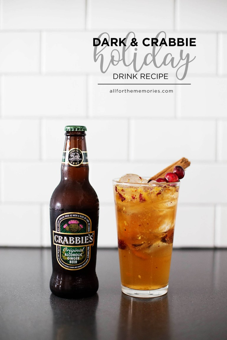 Dark and Crabbie Holiday - a fun drink recipe perfect for a holiday party!
