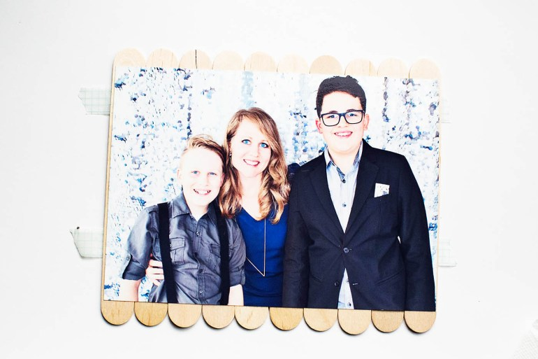 DIY Photo puzzle with printable tag!