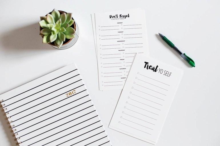 Free printable self care checklist