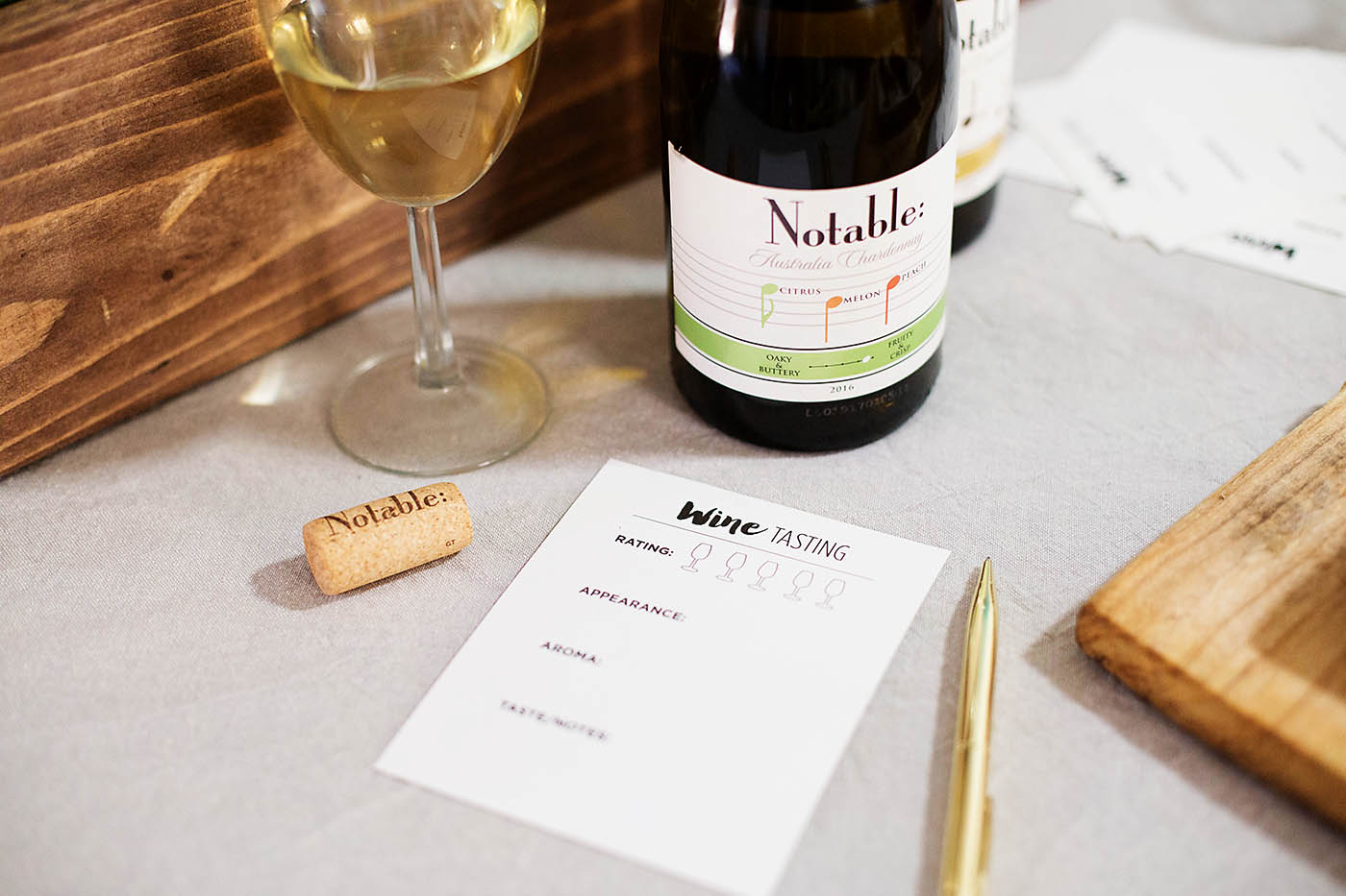 Chardonnay Day Party, Recipes & Wine Tasting Printable - All for the ...