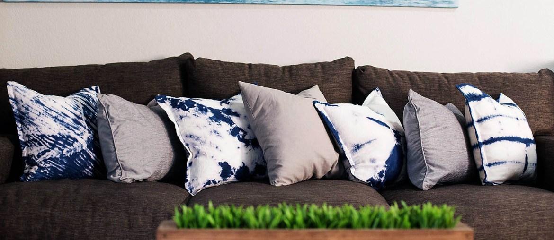 DIY Shibori dyed pillow covers
