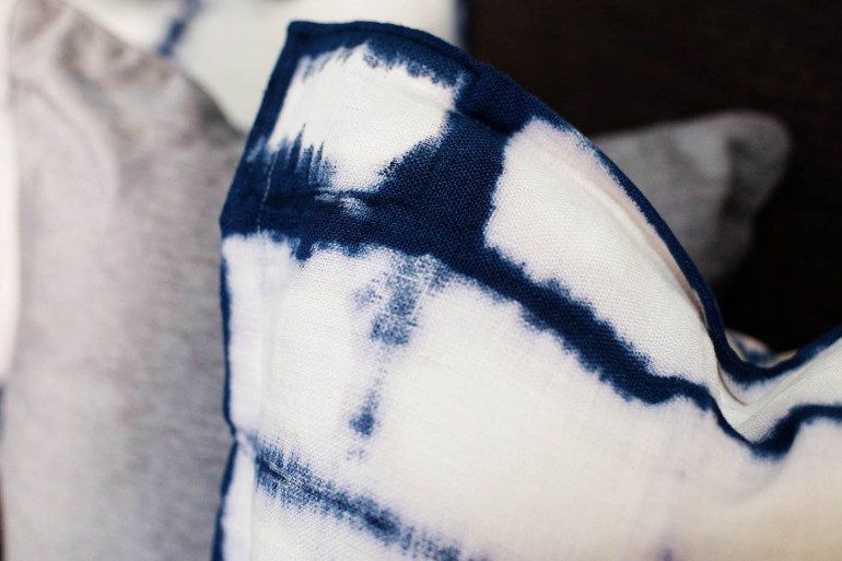 DIY Shibori dyed pillow covers