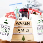 DIY Family Christmas Eve gift basket complete with ELF movie quotes + the Cricut cut files