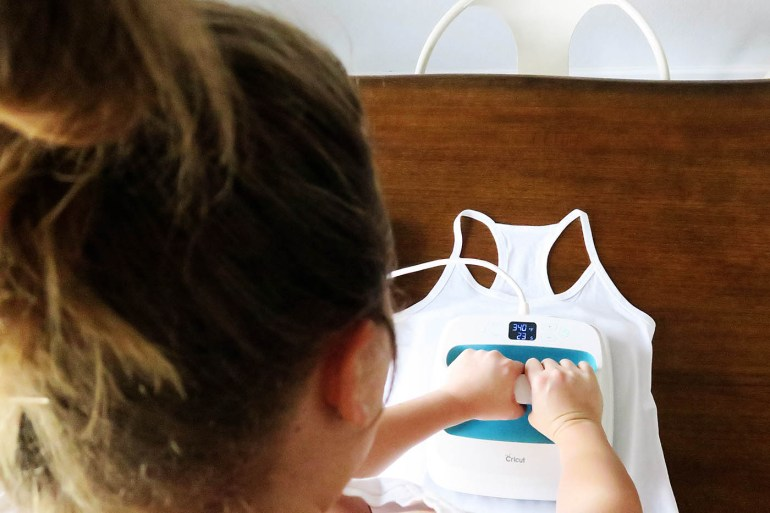 How to use a Cricut EasyPress with their new Iron-On Designs