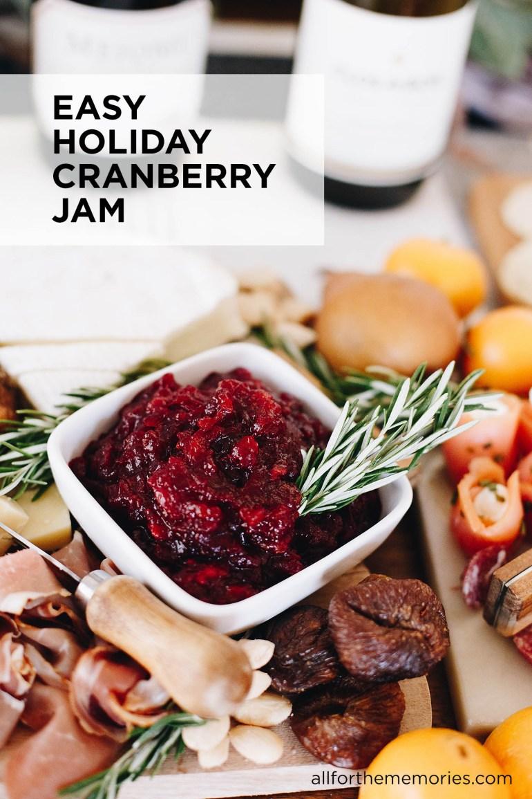 Easy holiday cranberry jam recipe