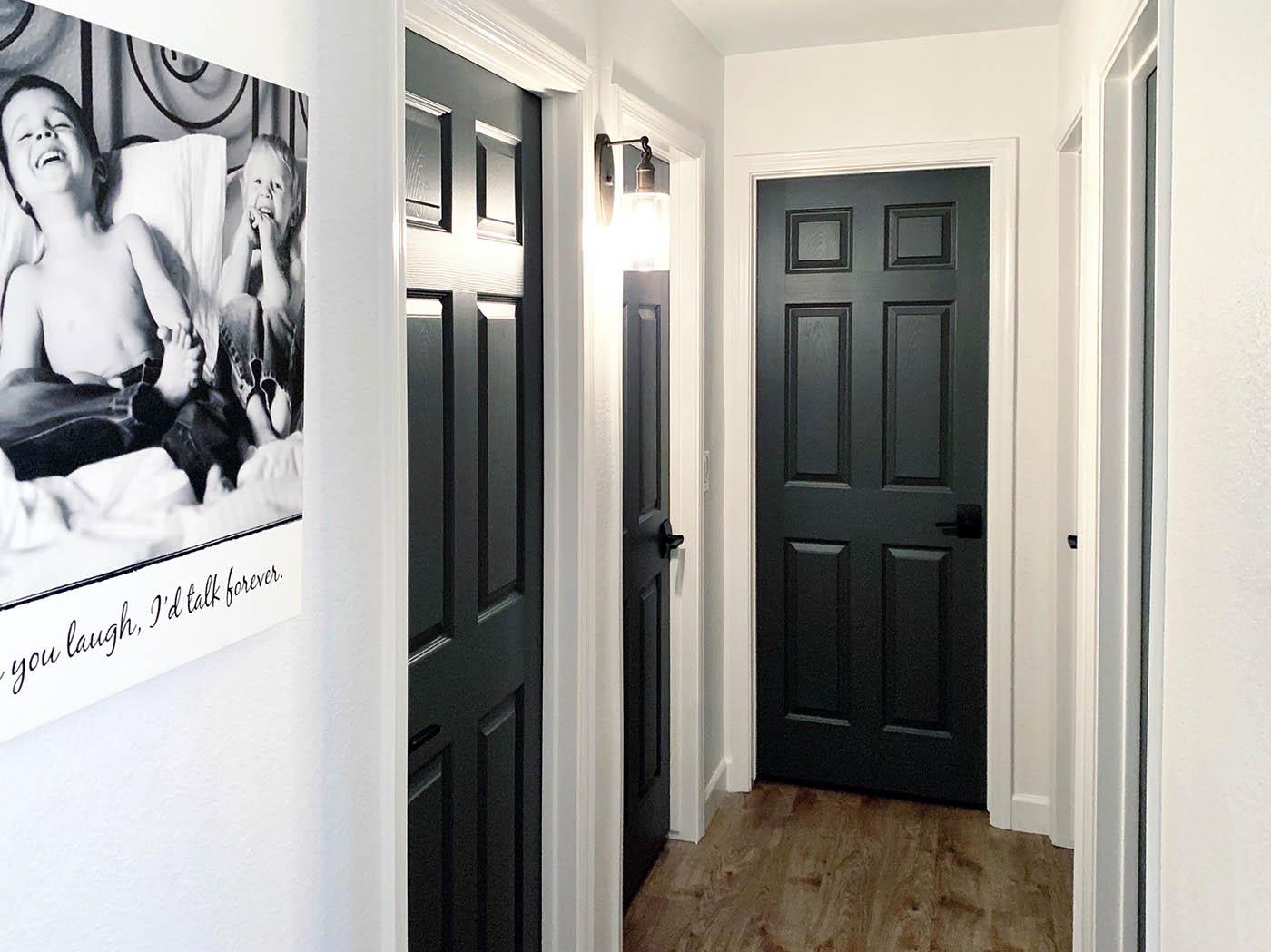 How To Paint Your Interior Doors Dark Grey ...