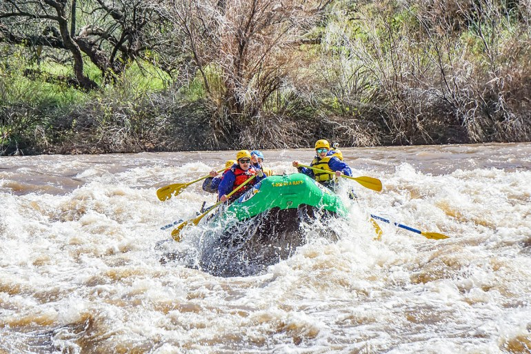 Arizona family adventure travel: whitewater rafting on the Salt River with Wilderness Aware Rafting