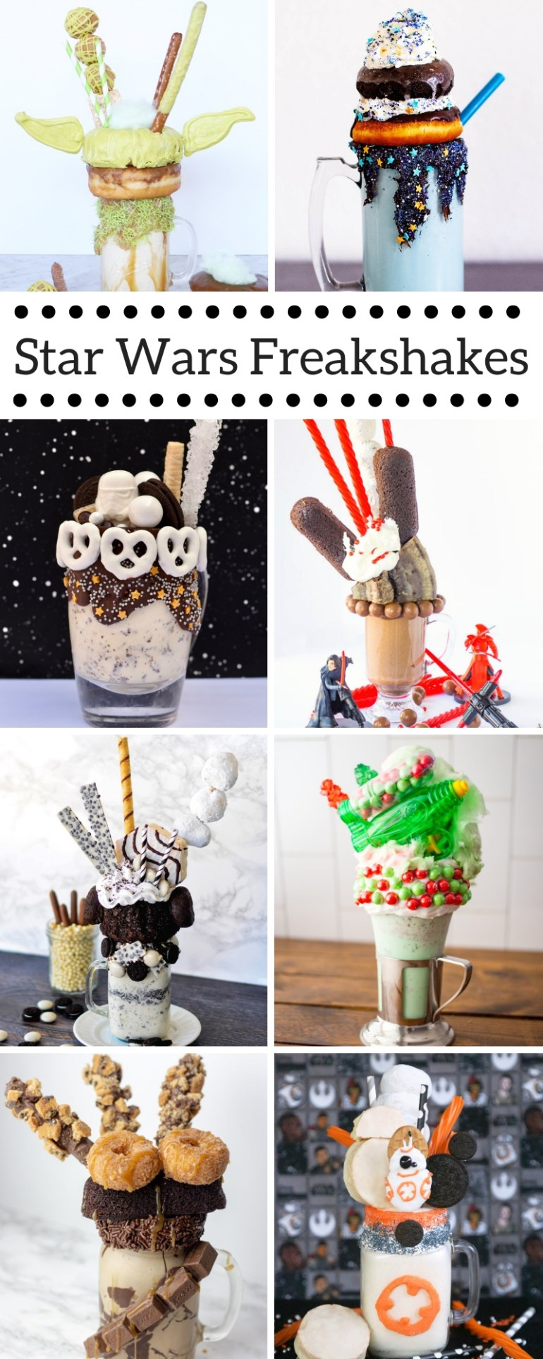 Star Wars themed Freakshakes