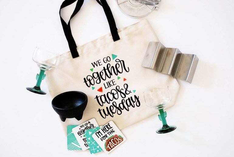 DIY Taco Tuesday Tote & Coasters with Cricut Infusible Ink