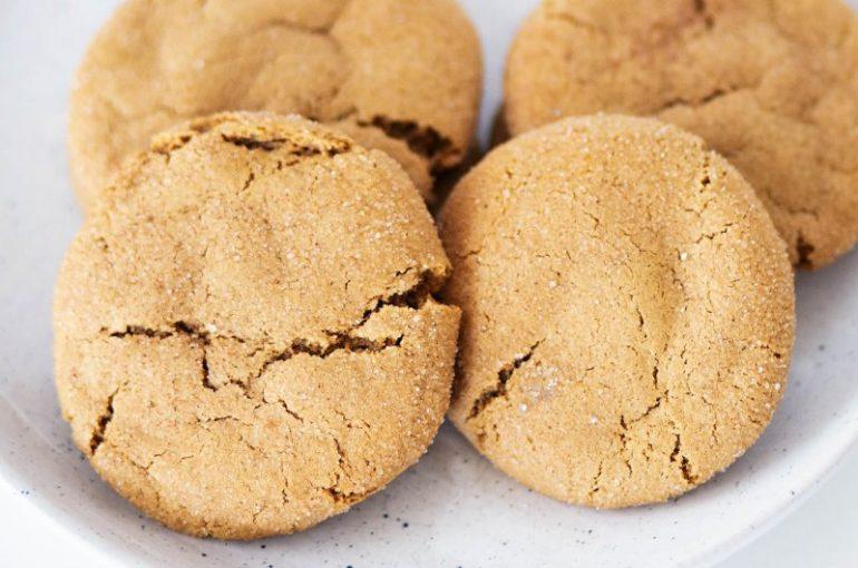 Gluten Free Chewy Gingerbread Snickerdoodle Cookies