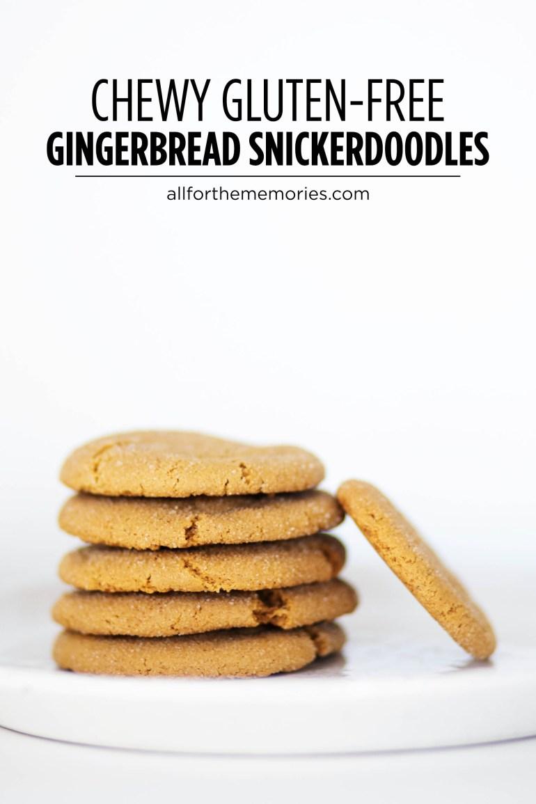 Chewy gluten-free gingerbread snickerdoodle cookies - gingerdoodles!