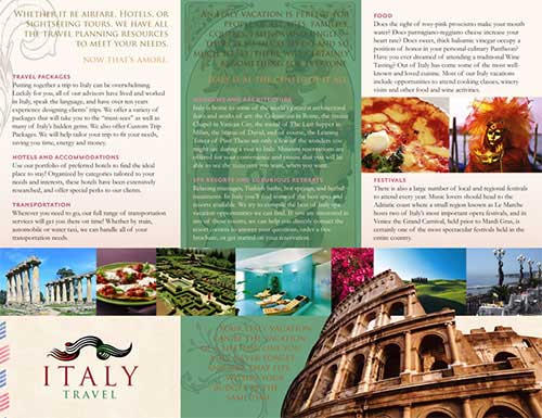 Travel Brochure Design 40 Beautiful Examples