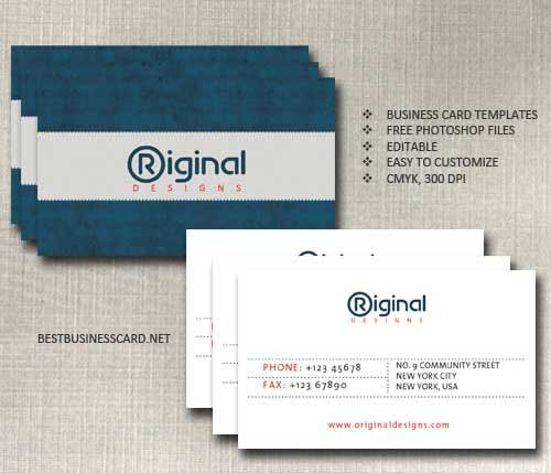free downloadable business cards templates