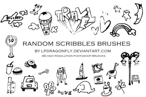 Doodle Brushes for Photoshop: 500+ Fun Designs