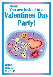 Valentines invite with cupids bow
